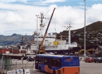 R/V Melville in the port of Lyttelton. SOFeX. Jan. 2002