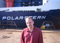 In front of R/V Polarstern in Bremerhaven. Oct. 2005