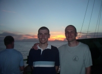Miguel and Michal after Crossing the Line ceremony. AMT16, RSS Discovery. June 2005