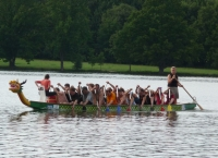 Dragon boat training. Summer 2010