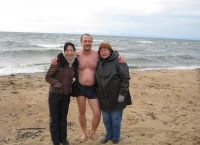 Swimming in Lake Baikal, Sept. 2011