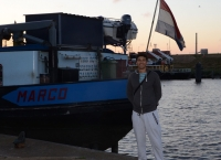 Marco and his boat in Holland